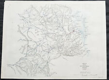 1861 Arrowsmith Rare Antique Map of Queensland, Australia - Brisbane to Warwick