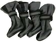 Top Paw Grey Reflective Dog Booties X-Large XL Boot Set of 4 Nylon boots
