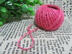 5X New 150M Burlap Rope Hemp Cord Thread Jute String Roll DIY Pink