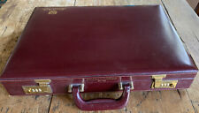 Vintage Briefcase Leather Hard shell Dual Combo Japanese Ford Motors 1980s