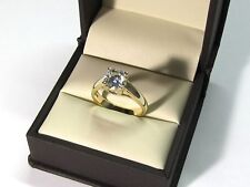2.00 Ct Solitaire Moissanite Engagement Ring 14K Solid Yellow Gold Round Cut