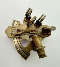 "4"" Maritime Solid Brass Nautical Sextant Astrolabe Antique Marine Instrument"