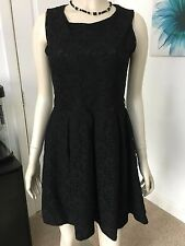 REPUBLIC SIZE 10 BLACK LACE FULLY LINED  PARTY  DRESS IN PERFECT CONDITION