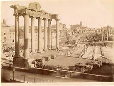 Italie, Roma, Foro Romano Vintage albumen print  Tirage albuminé  20x25  C