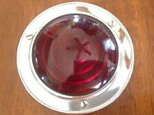 LQQK! VinTaGe Red GLASS Truck Trailer STOP or Tail Marker Light OLD