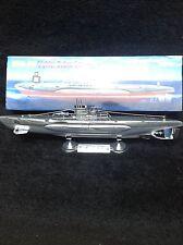 "German submarine (U Boot) U 518 display model 15"" lg. on display stand"