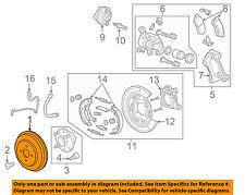 Chevrolet GM OEM 14-15 Spark Rear Brake-Rotor 95466043