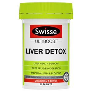 Swisse Ultiboost Liver Detox 60 Tablets Bloating Indigestion Milk Thistle