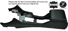 BLACK STITCHING CENTRE CONSOLE & ARMREST LEATHER COVERS FITS BMW E39 1996-2003