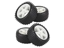 4x RC 1:10 Off-Road Front Rear Star shape Wheel Rim Rubber Tyre 12mm Hex