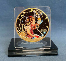 BUBBLE PLANETS - Classic Sci-Fi 2019 American Silver Eagle Gold Plated & Colour