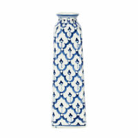 Sea Island Washington Monument Glossy Blue and White Porcelain Ceramic Vase