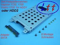 Dell Inspiron 1720, 1721 Vostro 1700 Einbaurahmen für HDD1 + Adapter + Schrauben