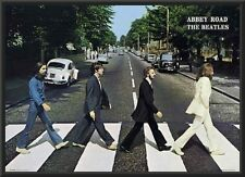 Beatles Abbey Road Poster Dry Mount in Black Wood Frame 24x36