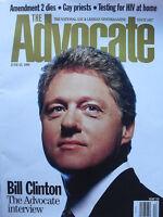 PRESIDENT BILL CLINTON The Advocate Interview June 25 1996 THE ADVOCATE Magazine