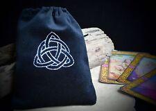 Triquetra Black  VELVET TAROT BAG wicca pagan Witchcraft