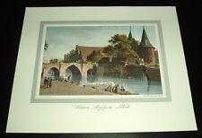 Lübeck - Die Holsteinbrücke, um 1820
