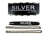 35cm Schwert 3/8P 2 Ketten Silver  passend für Stihl 023 MS230 MS 230