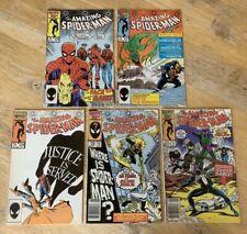 Amazing Spider-Man Comic Book Lot of 5 Books 276-280 / Marvel Comics Copper Age
