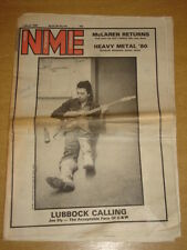 NME 1980 MAR 1 JOE ELY CLASH BOOMTOWN RATS INMATES