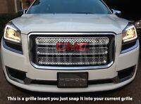 2013-2016 GMC Acadia chrome mesh grille grill insert overlay trim SL SLE SLT