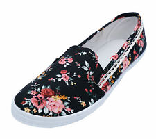 901e0b8b33 Plimsoll Floral Trainers for Women | eBay