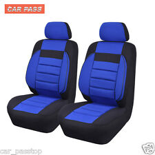 Universal 3D Car Seat Covers Blue Black Accessories Breathable Airbag Friendly