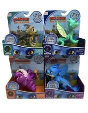 NETFLIX DRAGONS RESCUE RIDERS BURPLE CUTTER WINGER SUMMER FULL SET OF 4 FIGURES