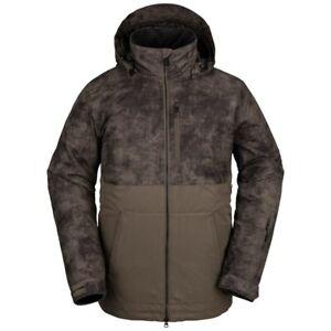 Brand New Mens 2022 Volcom Deadly Stones Insulated Jacket Dark Teak