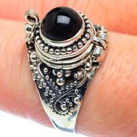 Poision Black Onyx 925 Sterling Silver Ring Size 8.5 Ana Co Jewelry R38132F