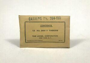 SCARCE Postwar Lionel 264-150 Separate Sale Timbers C10 MINT NOS