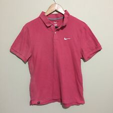 Nike Tennis Golf Athletic Dept Polo Shirt Short Sleeve Pink Womens Ladies Medium