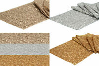 5 x SEQUIN TABLE RUNNER WEDDING PARTY BLING DECORATION GOLD SILVER & CHAMPAGNE