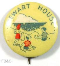 Vintage Stewart House Pin Badge - 2 Boys and girl on Beach