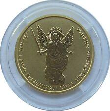 Più raramente ANNATA! 1/4 Oncia Oro Moneta Ucraina 5 GRIVNA 2011, Archangel Michael