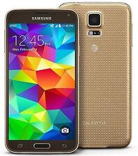 5.1 inches Samsung Galaxy S5 G900A 4G Unlocked Smartphone GPS NFC 16GB 16MP Gold