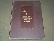 1942 INTERNATIONAL'S WORLD REFERENCE ATLAS GAZETTEER - NICE COLOR MAPS - KD 3718