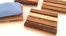 4 Soap Pallet soap dishes - handcrafted from various reclaimed wood species