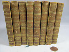 8 Mini volumes in French Gil Blas Mirabeau Goethe 1827-8 fine binding