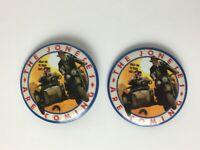 2 Vtg 80s Indiana Jones - Last Crusade Promo Pins 1989 Paramount Studios Pinback