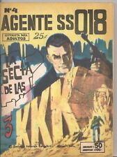 Agente SS018 #4 1970s B+W Spanish Lang Argentina Mini-comic VF