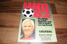 FUSSBALL WM 82/1982 in SPANIEN / ESPANA 82 -- Reklame-Heft von Grundig