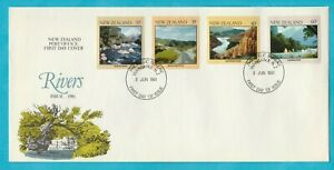 NZ New Zealand Rivers First Day Cover 1981