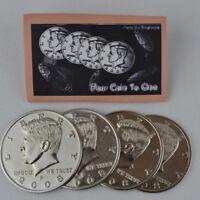 Jumbo Half Dollar Shells 3 + 1 Set(Dia 5.8cm) One Coin to Four Magic Tricks