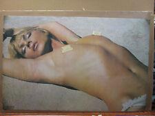 Poster Hot girl sunbathing   man cave car garage 1971 11743