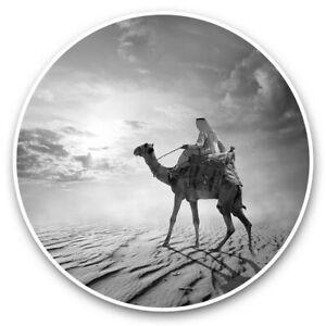 2 x Vinyl Stickers 15cm (bw) - Awesome Desert Camel Animals Sun  #41422