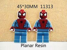 5 X 45mm Corte Láser LEGO Spiderman Adorno De Resina Reverso Plano Diademas Arcos