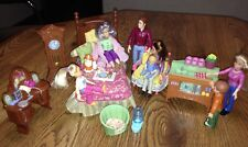 Fisher Price Loving Family Dollhouse Furniture, Cat, & 7 Figures/Dolls