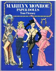 1979 Vintage Marilyn Monroe Paper Dolls, Tom Tierney, 1st printing uncut