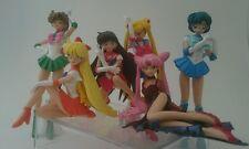 2002 Bandai Gashapon Sailor Moon 6 Figures Mercury Mars Venus Jupiter Official